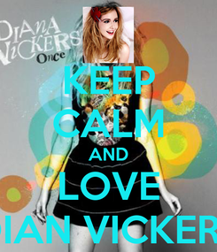 Poster: KEEP CALM AND LOVE DIAN VICKERS