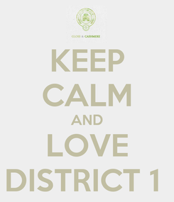 Poster: KEEP CALM AND LOVE DISTRICT 1