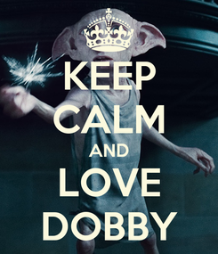 Poster: KEEP CALM AND LOVE DOBBY