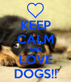 Poster: KEEP CALM AND LOVE DOGS!!
