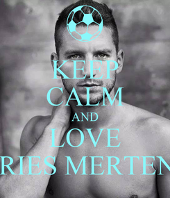 Poster: KEEP CALM AND LOVE DRIES MERTENS