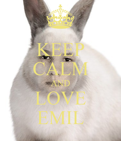 Poster: KEEP CALM AND LOVE EMIL