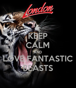 Poster: KEEP CALM AND LOVE FANTASTIC BEASTS