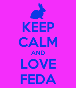 Poster: KEEP CALM AND LOVE FEDA
