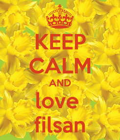 Poster: KEEP CALM AND love  filsan