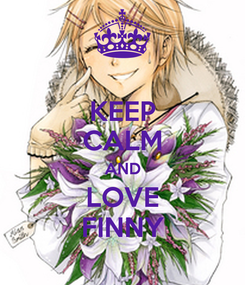 Poster: KEEP CALM AND LOVE FINNY