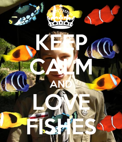 Poster: KEEP CALM AND LOVE FISHES