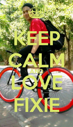 Poster: KEEP CALM AND LOVE FIXIE