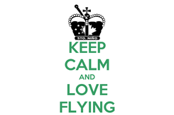 Poster: KEEP CALM AND LOVE FLYING
