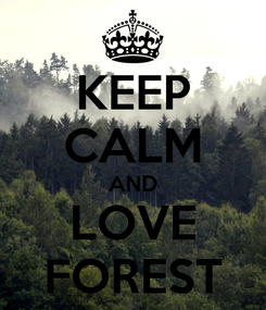 Poster: KEEP CALM AND LOVE FOREST