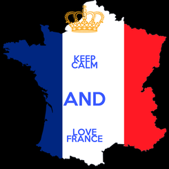 Poster: KEEP CALM AND LOVE FRANCE