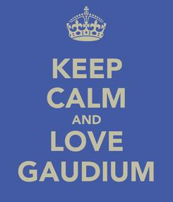Poster: KEEP CALM AND LOVE GAUDIUM