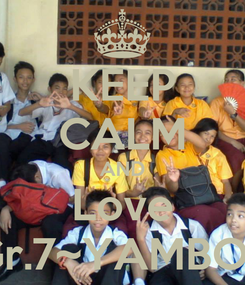 Poster: KEEP CALM AND Love Gr.7~YAMBOT