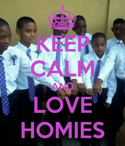 Poster: KEEP CALM AND LOVE HOMIES
