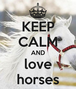 Poster: KEEP CALM AND love horses