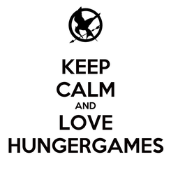 Poster: KEEP CALM AND LOVE HUNGERGAMES