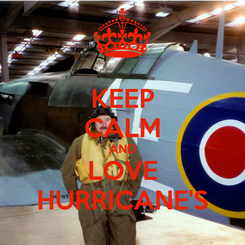 Poster: KEEP CALM AND LOVE HURRICANE'S