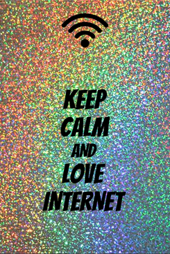 Poster: KEEP CALM AND LOVE  INTERNET