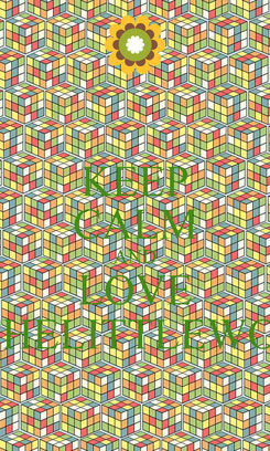 Poster: KEEP CALM AND LOVE INTHELITTLEWOOD