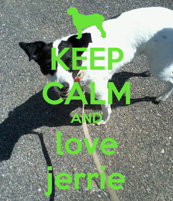 Poster: KEEP CALM AND love jerrie