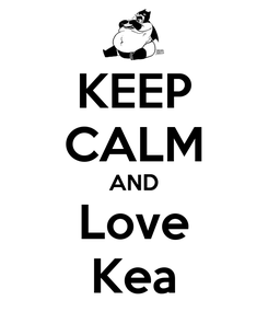 Poster: KEEP CALM AND Love Kea