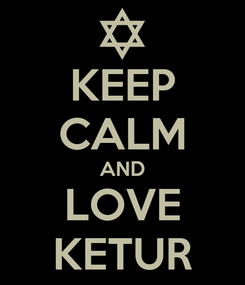 Poster: KEEP CALM AND LOVE KETUR