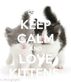 Poster: KEEP CALM AND LOVE KITTENS.