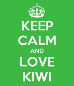 Poster: KEEP CALM AND LOVE KIWI