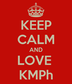 Poster: KEEP CALM AND LOVE  KMPh