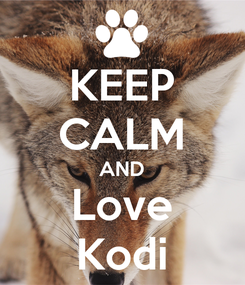 Poster: KEEP CALM AND Love Kodi