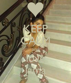 Poster: KEEP CALM and love lama