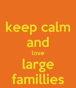Poster: keep calm and love large famillies