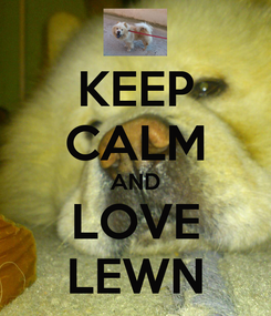 Poster: KEEP CALM AND LOVE LEWN