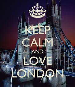 Poster: KEEP CALM AND LOVE LONDON