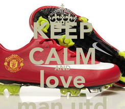 Poster: KEEP CALM AND love man utd