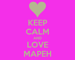 Poster: KEEP CALM AND LOVE MAPEH