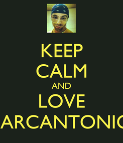 Poster: KEEP CALM AND LOVE MARCANTONIO