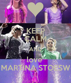 Poster: KEEP CALM AND love  MARTINA STOESW