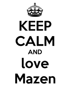 Poster: KEEP CALM AND love Mazen