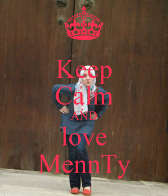 Poster: Keep Calm AND love MennTy