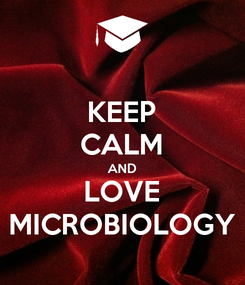 Poster: KEEP CALM AND LOVE MICROBIOLOGY