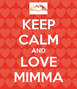 Poster: KEEP CALM AND LOVE MIMMA