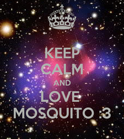 Poster: KEEP CALM AND LOVE  MOSQUITO :3