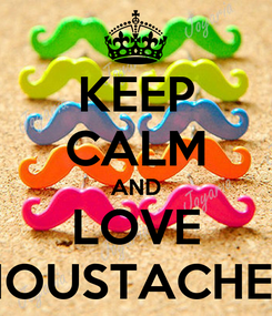 Poster: KEEP CALM AND LOVE MOUSTACHE'S
