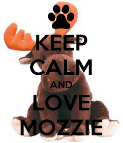 Poster: KEEP CALM AND LOVE MOZZIE