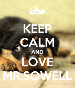 Poster: KEEP CALM AND LOVE MR.SOWELL