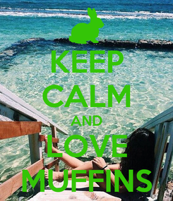 Poster: KEEP CALM AND LOVE MUFFINS