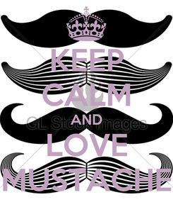 Poster: KEEP CALM AND LOVE MUSTACHE