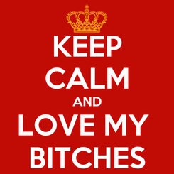 Poster: KEEP CALM AND LOVE MY  BITCHES