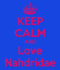 Poster: KEEP CALM AND Love Nahdridae